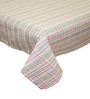 R Home Checkered Beige Cotton Table Cover
