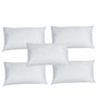 R Home White Polyester 20 x 12 Inch Pillow Inserts - Set of 5