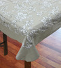 R Home Printed Beige Cotton Table Cover