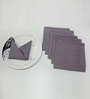 R Home Purple Cotton Table Napkin - Set of 6