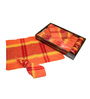 R Home Red Cotton Placemats with Ring Holders & Tray - Set of 7