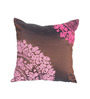 R Home Royal Brown Polyester 16 x 16 Inch Tafetta Cushion Cover