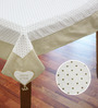 R Home White Cotton Table Cover