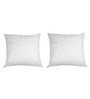 R Home White Polyester 12 x 12 Inch Cushion Inserts - Set of 2
