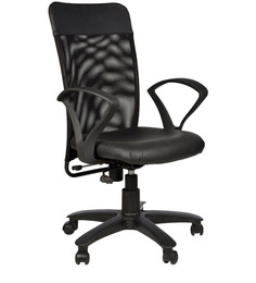 Rado High Back Chair in Black Colour by Chromecraft