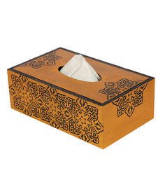 Rang Rage Multicolor Wooden Classic Mughal Tissue Box Holder
