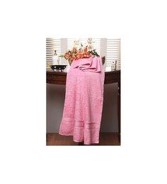 Raymond Home Meysa Pink Cotton Bath Towel