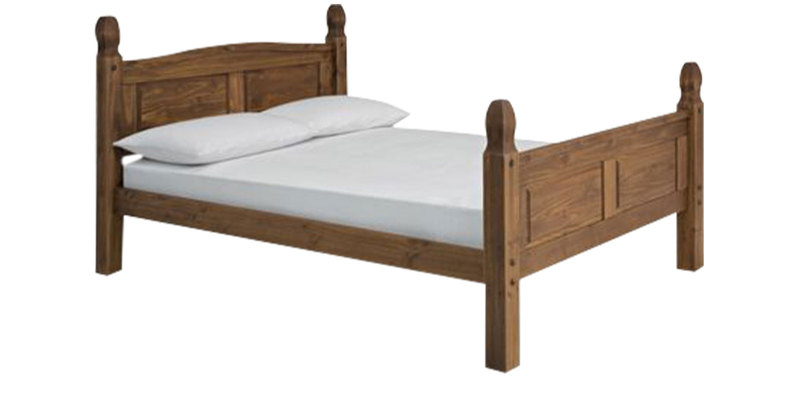Raphael King Size Bed in Walnut Finish by Asian Arts