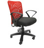 Rado Office Ergonomic Chair in Red & Black Colour by Chromecraft