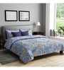Rago Blue Poly Cotton Queen Size Bedsheet - Set of 3