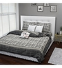 Rago Grey Cotton Queen Size Bed Cover - Set of 3