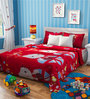 Rago Kids Hello Kitty Single Bedsheet in Red & Blue with 1 Pillow Case