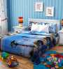 Rago Kids Madagascar Poly Cotton Double Bedsheet with 2 Pillow Covers
