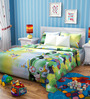 Rago Kids Mickey Poly Cotton Single Bedsheet with 1 Pillow Case