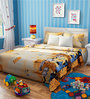 Rago Kids Minions Double Bedsheet in Yellow & Blue with 2 Pillow Covers