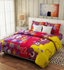 Rago Kids Pop Cotton Teddy Double Bedsheet Set with Pillow Covers