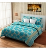 Rago Turquoise Cotton Queen Size Bed Cover - Set of 3