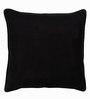 Rajrang Black Canvas 20 x 20 Inch Cushion Cover
