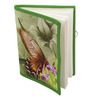 Rajrang Green Paper & Cotton Butterfly Print Diary