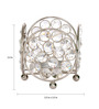 Rajrang Silver Crystal Light Weight Candle Holder