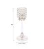 Rajrang Silver Crystal Pillar Candle Holder