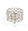 Rajrang Silver Crystal Rounded Bowl Candle Holder