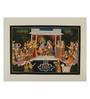 Rajrang Silk 14 x 10 Inch Dazzling Lord Radha Krishna Unframed Painting