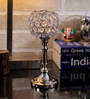 Rajrang Silver Glass & Crystal Designer Hand Made Candle Holder