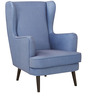 Ralf Wing Chair in Blue Colour by HomeTown