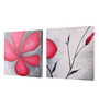 Rang Rage Canvas 16 x 2 x 16 Inch Floral Musing Framed Art Panels - Set of 2