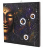 Rang Rage Canvas 16 x 2 x 16 Inch Hand-painted Buddhist Believe Stretched Framed Painting