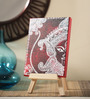 Rang Rage Canvas 8 x 1 x 6 Inch Classy Divine Maa Stretched Framed Painting with Easel Stand