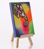 Rang Rage Canvas 8 x 1 x 6 Inch Funky Elephant Classic Stretched Framed Painting with Easel Stand