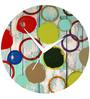 Rang Rage Color Splash Handpainted Round Clock
