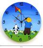 Rang Rage Flying Kite Handpainted Round Clock