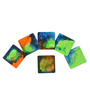 Rang Rage Hand-Painted Igniting Multicolour Wooden Coasters - Set of 6