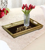 Rang Rage Handpainted Classic Motif Curved Multicolour Wood Tray