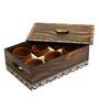 Rang Rage Handpainted Madhubani Classics Wood & Terracotta 200 ML Kulhads with Tray - Set of 6