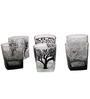 Rang Rage Jungle Safari Handpainted Whisky Glasses - Set of 6