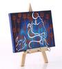 Rang Rage Multicolour Canvas The Divine Shiva Key Holder
