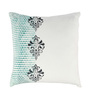 Rang Rage Turquoise Cotton 16 x 16 Inch Hand-Painted Designer Cushion Covers - Set of 3
