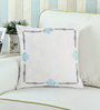 Rang Rage Azure Cotton 16 x 16 Inch Hand-Painted Frame Cushion Cover
