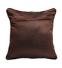 Rang Rage Brown Jute 16 x 16 Inch Fest Cushion Covers - Set of 5