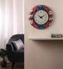 Rang Rage Multicolour MDF 16 Inch Coral Charm Hand Painted Round Wall Clock