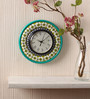 Rang Rage Multicolour MDF 9 Inch Classic Green Hand Painted Round Wall Clock