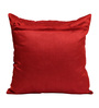 Rang Rage Red Poly Silk 16 x 16 Inch Handcraft Circle Cushion Covers - Set of 5