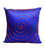 Rang Rage Royal Blue Poly Silk 16 x 16 Inch Cushion Cover