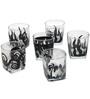 Rang Rage Tropicana Holidays Handpainted Whisky Glasses - Set of 6