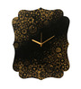 Rang Rage Black Wooden 15.95 x 12.2 Inch Rustic Steampunk Wall Clock