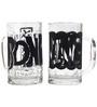 Rang Rage Word Fillers Handpainted Beer Mug  - Set of 2